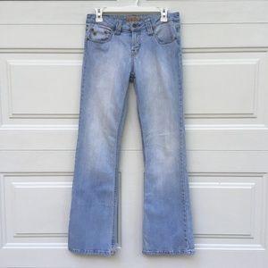 Paris Blues Jeans Light Wash Stretch 7 Mid-Rise